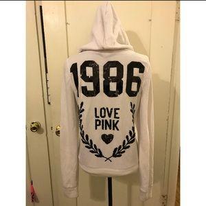 White zipped hoodie